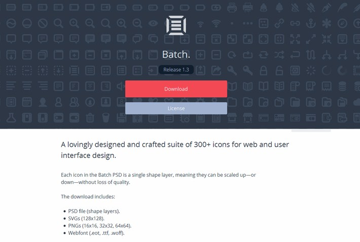 Batch 300+ Icons for Web & User Interface Design