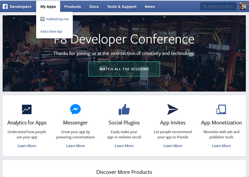 Facebook App Domain Sorunu